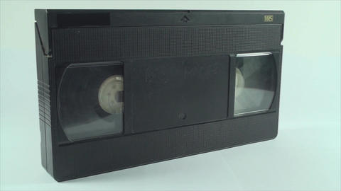 Video Tape Isolated On White, Vintage, Media, Retr Footage