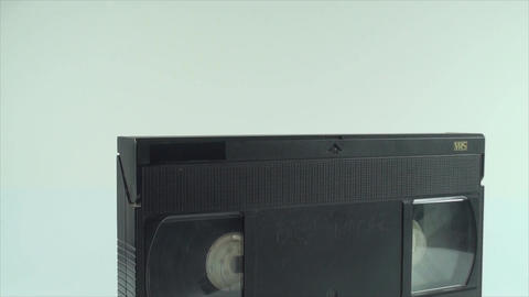 Video Tape Isolated On White, Vintage, Media, Retr Live Action