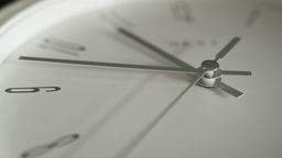 Close up white Clock face HD Stock Footage Footage