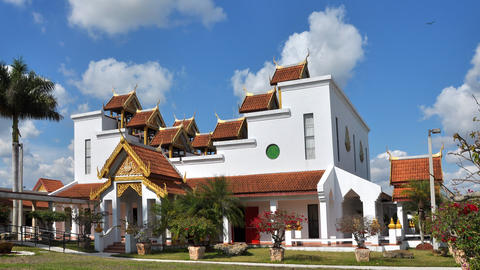 Thai temple with beautiful sky, Live Action