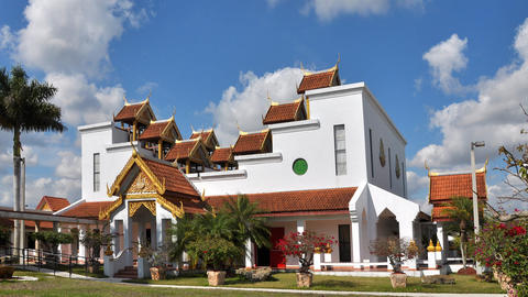 Thai temple with beautiful sky Live Action
