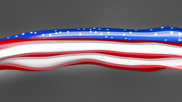 Abstract flowing flag. USA Stock Video Footage
