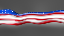 Abstract flowing flag. USA Animation