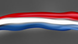 Abstract Flowing Flag. The Netherlands stock footage