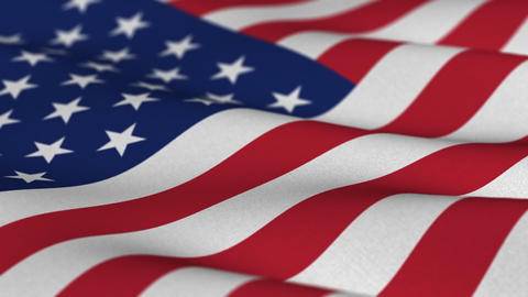 USA Flag Waving In The Wind Seamless Loop stock footage