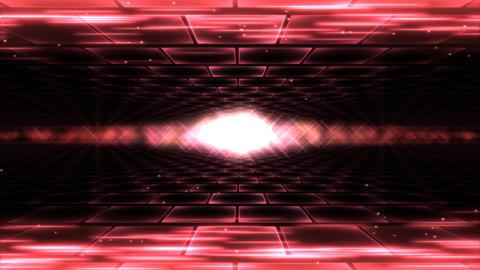 Sideways Travel Light Animation - Loop Red Animation
