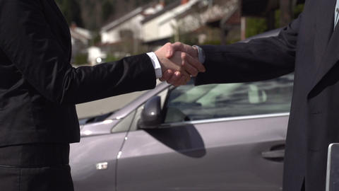 SLOW MOTION: Business handshake Footage