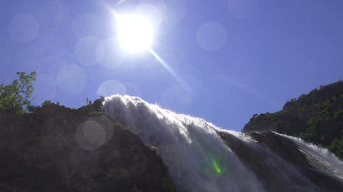 SLOW MOTION: waterfall Footage