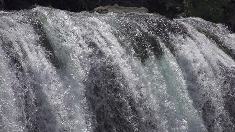 SLOW MOTION: waterfall, close view Footage