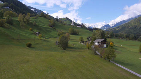 AERIAL: Beautiful Austrian countryside Footage