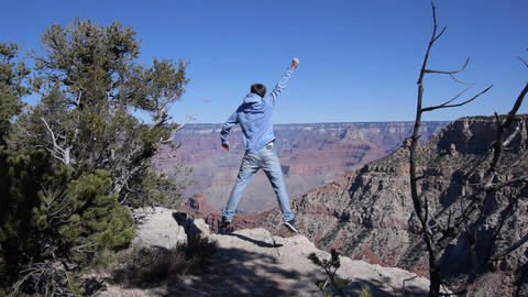 Reaching the edge of Grand Canyon Footage