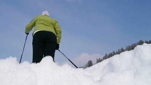Cross-country skiing Footage