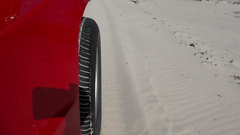 Buggy driving along the sandy beach Footage