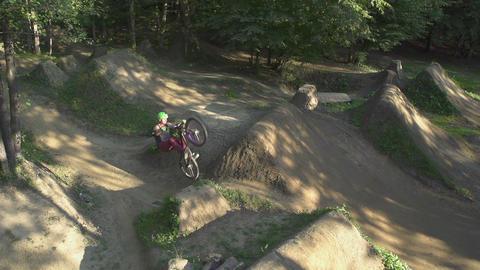 AERIAL SLOW MOTION: Bmx biker does backflip Footage