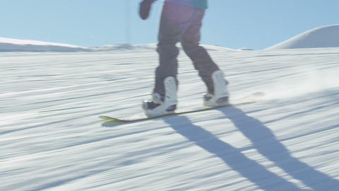 SLOW MOTION: Snowboarding Live Action