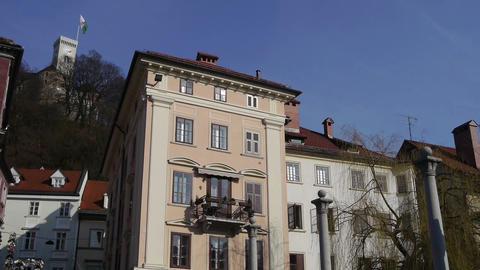 Ljubljana city center Footage