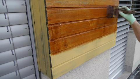 Painting wood Footage