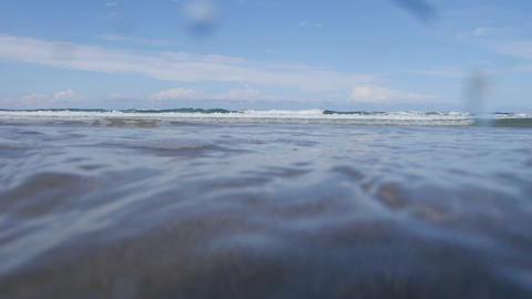 UNDERWATER: Waves splashing over Footage