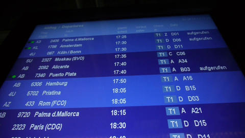 Departure board Footage