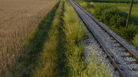 AERIAL: Train Footage