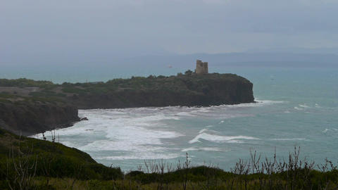 Bad weather in Sardinia, Italy Footage