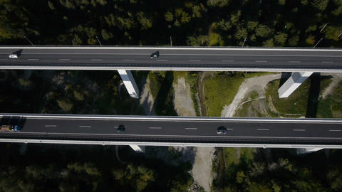 AERIAL: Highway viaduct Footage