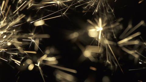SLOW MOTION: Golden sparkles ビデオ