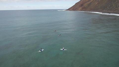 AERIAL: Surfing Footage
