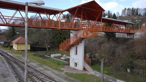 AERIAL: Railroad overpass Live影片