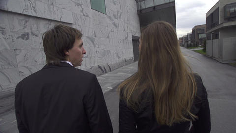 SLOW MOTION: Business couple having discussion Footage
