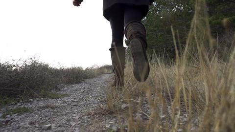 SLOW MOTION: Girl running away Footage