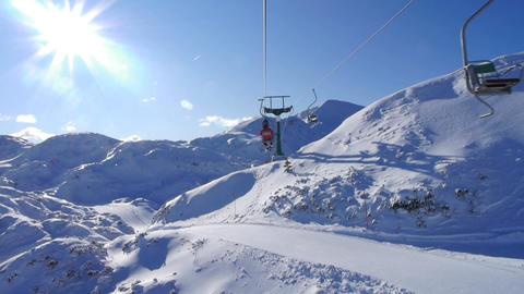 Ski lift ride Footage