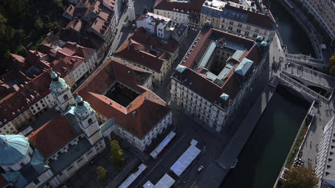 AERIAL: Castle above the city Live Action