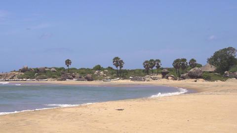 SLOW MOTION: Exotic beach in Sri Lanka Footage