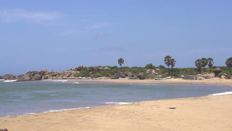 SLOW MOTION: Exotic beach in Sri Lanka Stock Video Footage