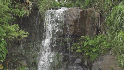 SLOW MOTION: Waterfall Close Up Footage
