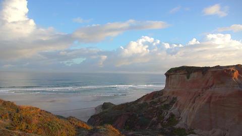 AERIAL: Amazing beach at sunrise Footage