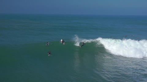 AERIAL: Professional surfers surfing Footage
