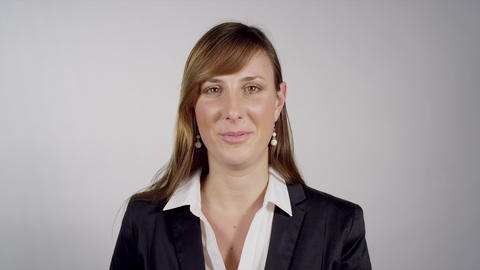 Female Having A Video Conference stock footage