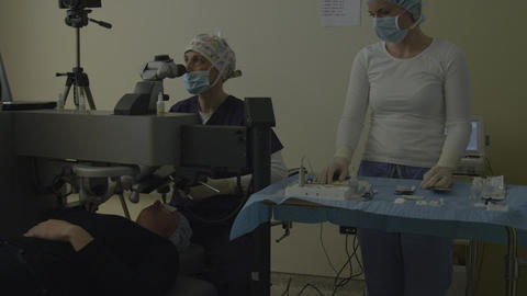 Laser sight correction Footage