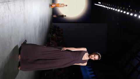 Vertical catwalk model fashion week couture Footage