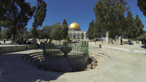 Dome Of The Rock 2.7K stock footage
