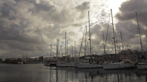 Port With Boats And Yachts Of Las Palmas De Gran C stock footage