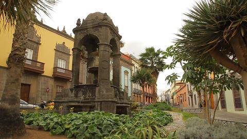 Plaza Espiritu Santo in Las Palmas de Gran Canaria Live Action