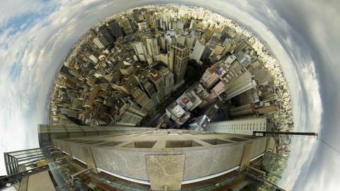 4K UHD Sao Paulo Brazil skyline video panorama tim Footage