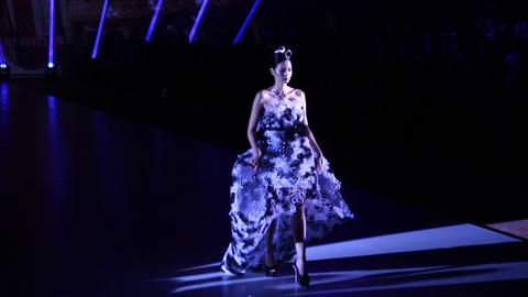 Fashion Extravaganza Brings Western And Eastern Fa stock footage