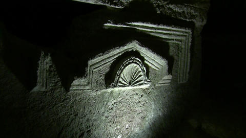 Sarcophagus in the cave of the coffins, Bet Sheari Footage