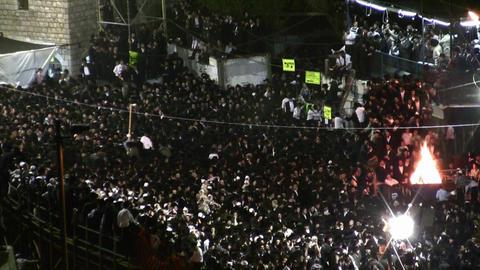 Hasidic celebration of Lag B'omer in Meron Footage