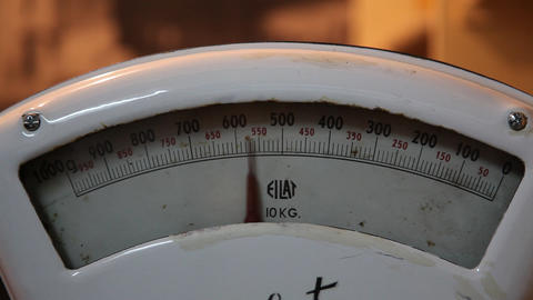 Old style vintage analogue scales Footage