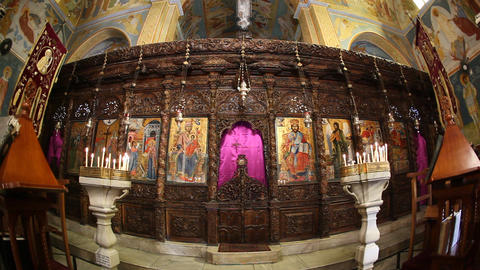 The Greek Orthodox Church of the Annunciation in N Footage